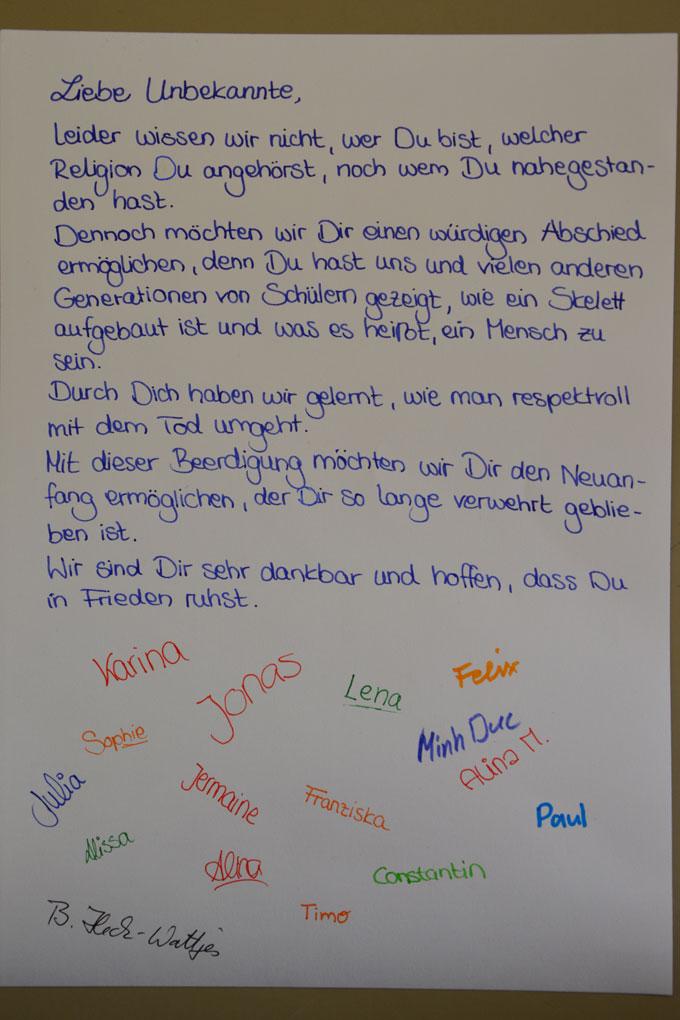 Ev. Kirchengemeinde Stolberg: Abschied Schulskelett